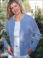 Woman Free Cardigan Knitting Pattern