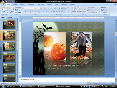Scrapbook PowerPoint Template With Heart Warming Videos