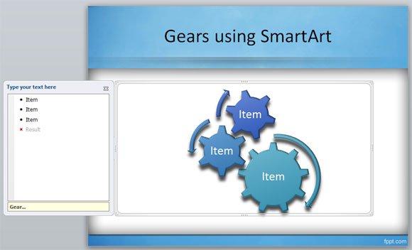 How to create gears in PowerPoint using SmartArt - smartart powerpoint template