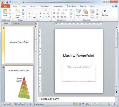 Change orientation in PowerPoint slides from portrait to landscape