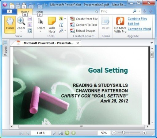 How To Create PowerPoint Handouts in PDF With Free Nitro PDF Reader