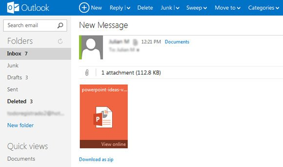 How to share PowerPoint Online with the New Outlook Email