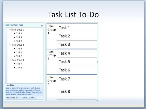 How to make a Task List or To-Do PowerPoint Template