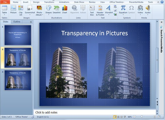 How to Add Transparency to a Picture in PowerPoint 2010 - how to make a picture transparent