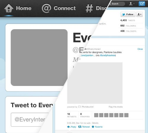 Twitter Profile Page Template for Photoshop - twitter template