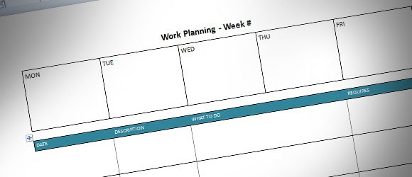 Weekly Planning Template for Microsoft Word (free)
