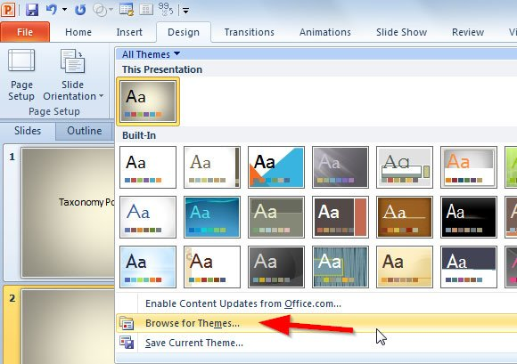 How to apply FPPT design templates to your presentation