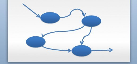Data Flow Diagram in PowerPoint - Data Flow Chart
