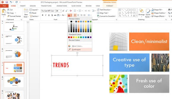 EyeDropper in PowerPoint 2013 (Office 15)
