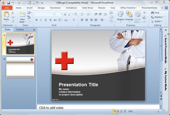 Premium  Free PowerPoint Templates and Backgrounds for Medical