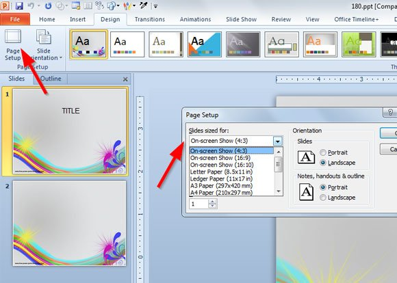 How to Make Your Old PowerPoint Template Compatible With Widescreen