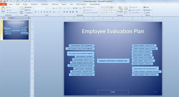 How to Make an Employee Performance Evaluation Plan in PowerPoint 2010