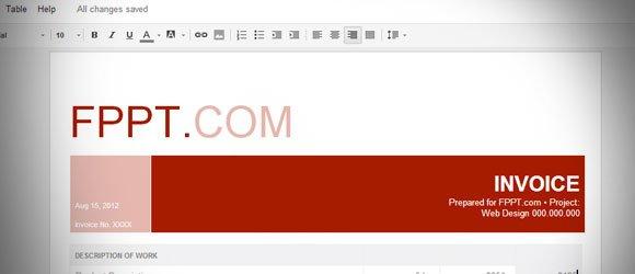 Warm Professional Invoice for Google Docs