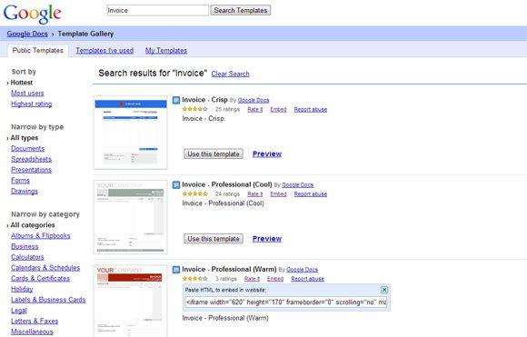 Warm Professional Invoice for Google Docs - free invoice template google docs