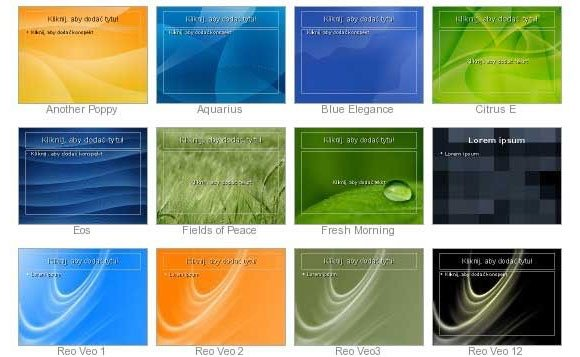 Free OpenOffice and LibreOffice Templates for Impress