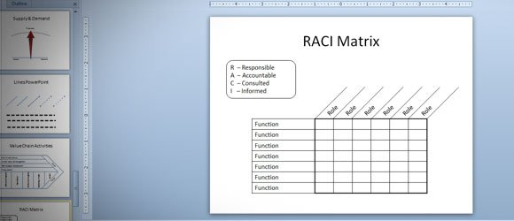 RACI Matrix in PowerPoint 2010 using Tables  Shapes