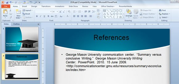 references-powerpointjpg - ion powerpoint theme