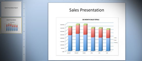 Giving a Sales Presentation - sales presentation template