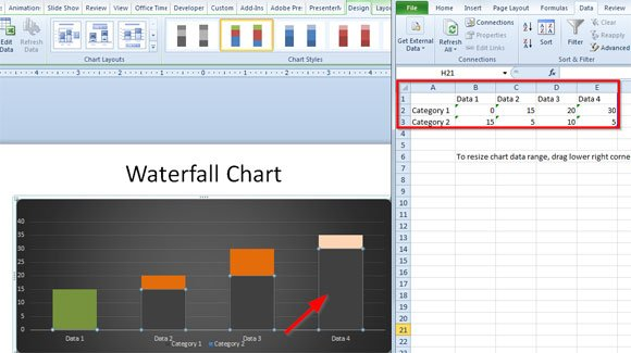 waterfall chart in excel 2010 - Selol-ink