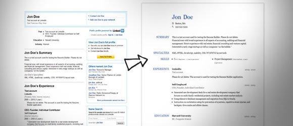resume vs linkedin