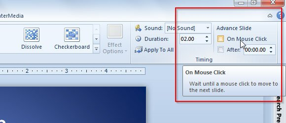 Useful Tip Disabling PowerPoint Left Mouse Click To Advance Slide