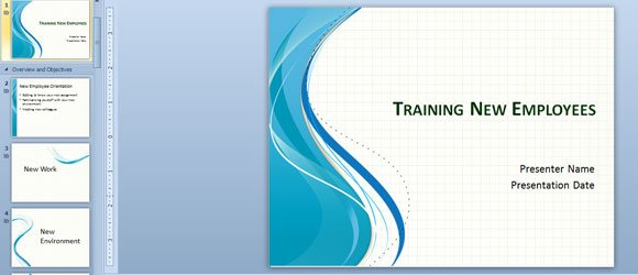 Training New Employees PowerPoint Template - Employee Presentations