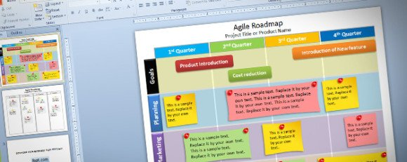 Free Editable Agile Roadmap PowerPoint Template - roadmap powerpoint template