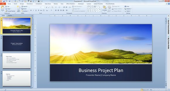 Free Business Plan Template for PowerPoint 2013 - project plan ppt template