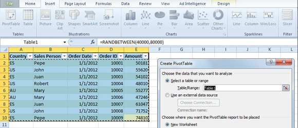 How to use Excel Pivot Tables - pivot table in excel