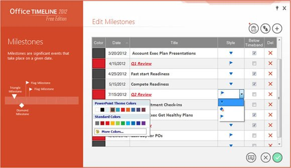 Office Timeline add-in for PowerPoint