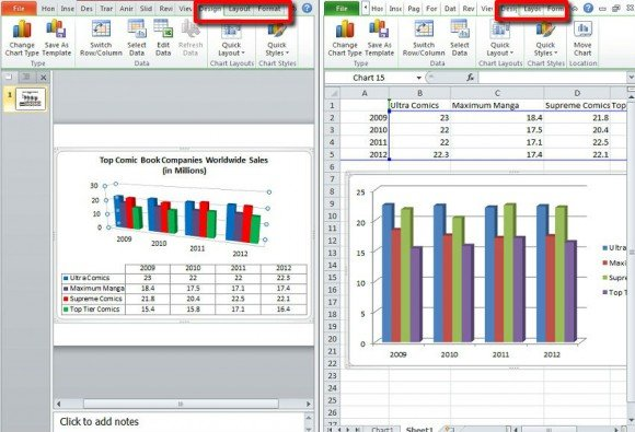 Make a Chart in PowerPoint and Excel - types of excel charts