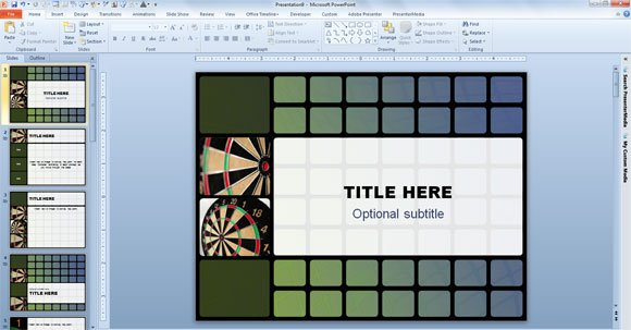 Free Animated Darts Template for PowerPoint 2010 - powerpoint 2010 templates