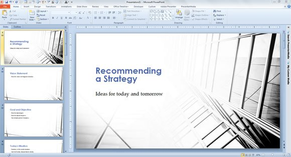 Strategic Plan Template for PowerPoint 2013 - strategy powerpoint presentations