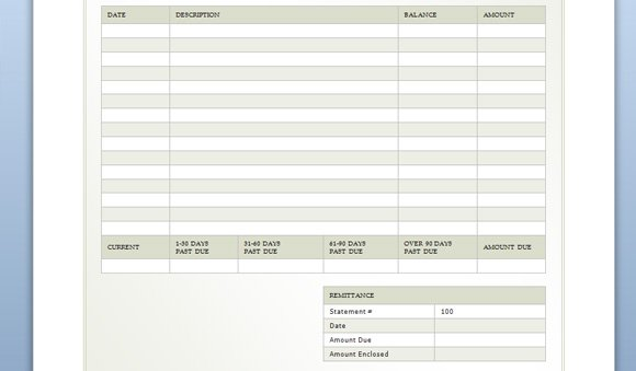 Billing Sheet Template for Word