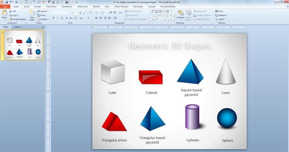 Free 3D Geometric Shapes Template for PowerPoint Presentations