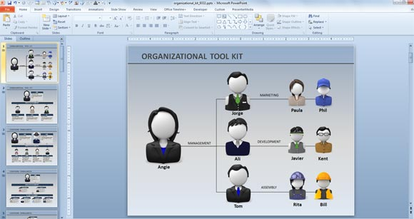 Animated Org Chart PowerPoint Templates