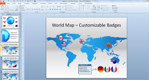 Make Awesome Global Presentations with Global PowerPoint Template