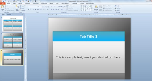 Free Flash Card Template for PowerPoint
