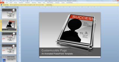 Animated Magazine PowerPoint Templates