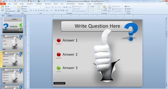 Awesome Questions  Answers PowerPoint Templates - interactive powerpoint template