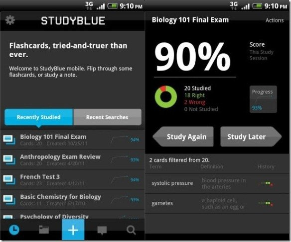 StudyBlue Create Flash Cards And Share Study Material With Classmates