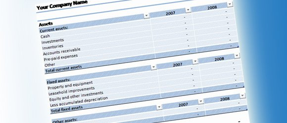 Balance Sheet Template for Excel 2007 or Later - balance sheet template download