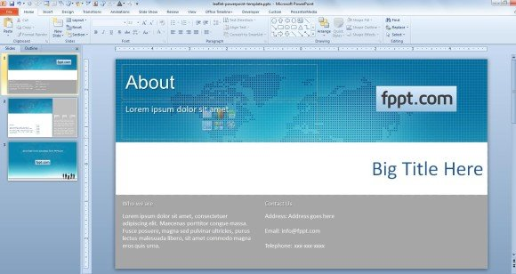 How to Make a Leaflet PowerPoint Template - leaflet template