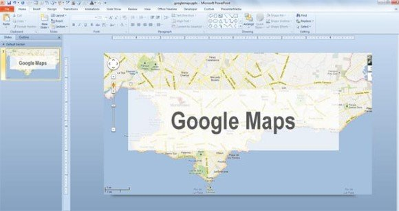 Use a Map from Google Maps in PowerPoint 2010 Presentations - interactive us maps for powerpoint