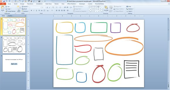 Free Hand Drawn Callouts  Graphics for PowerPoint Presentations - free powerpoint graphics templates