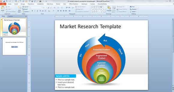 Free Market Research PowerPoint Template - market template