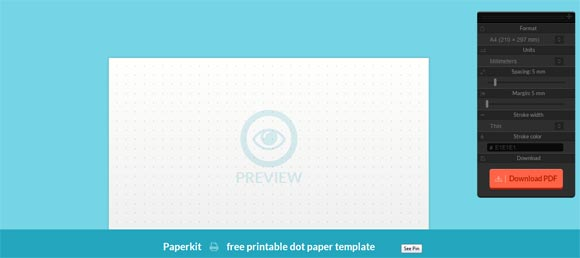Generate Dot Paper Online for Free with PaperKit