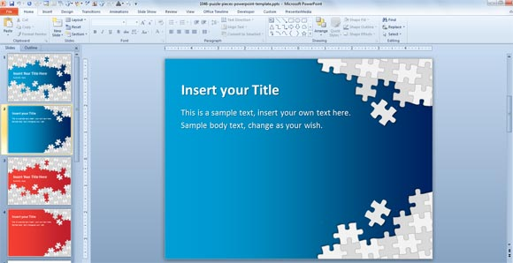 Download Free Puzzle Pieces PowerPoint Template for Presentations - puzzle powerpoint template