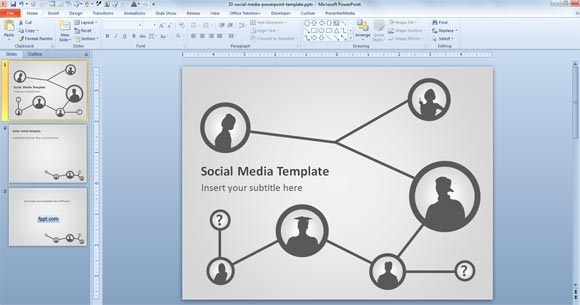 Free Social Media Template for PowerPoint Presentations