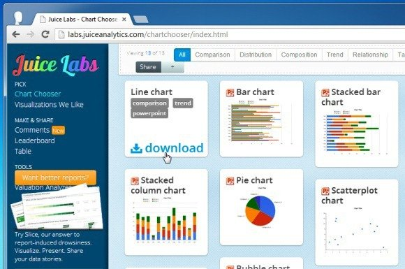 Chart Chooser Download Editable Excel and PowerPoint Chart Templates - free comparison charts templates